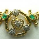 3.60tcw Fabulous! Custom Made Colombian Emerald & Diamond Necklace 14k