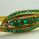 Remarkable! Colombian Emerald & 18k Gold Bangle