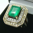 ONE OF A KIND COLOMBIAN EMERALD & DIAMOND RING