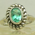 HOT!! NEW! Artisan Collection, Colombian Emerald Sterling Silver & Diamond Ring