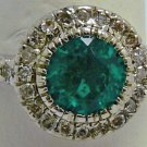2.11tcw Exceptional Quality! Colombian Emerald & Diamond Engagement Ring 14k