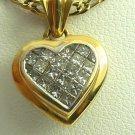 PRINCESS CUT DIAMOND HEART PENDANT