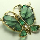 8.20tcw Remarkable! Colombian Emerald Trapiche & Diamond Butterfly Necklace