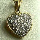 PERFECT!!! PAVE DIAMOND HEART PENDANT