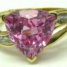 2.48cts Perfect! Pink Tourmaline Diamond & Gold Ring