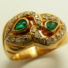 Perfection! Colombian Emerald & Diamond Cocktail Ring 18k