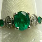 2.20tcw Traffic Stopping! Colombian Emerald & Diamond Cocktail Ring 14k