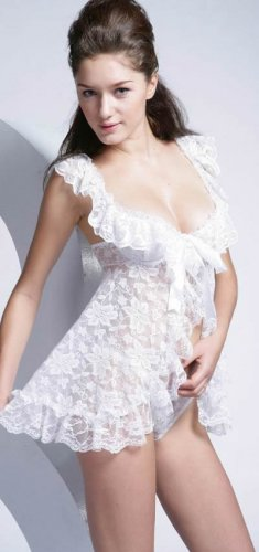 ~ Stunning Lace Babydoll .. Perfect For Your Wedding Nite ~