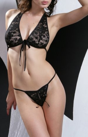 ~ Lace Halter Neck Bra With Fontal Ties ~