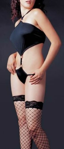 ~ Sexy Halter Style Thong Back Teddy With O Ring ~