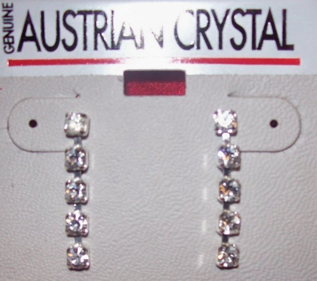 Austrian Crystal Jewelry, Surgical steel post  dangling earrings #7**