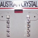 Austrian Crystal Jewelry, Surgical steel post  dangling earrings #7**