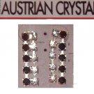 Austrian Crystal Jewelry Earrings. -Dangling black/clear  #1**