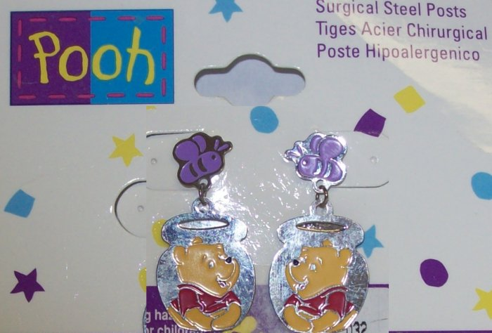 Children's Jewelry, Winnie the Pooh  Earrings, Honey Pot