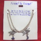 "Jewelry for Teens and Tweens, Moon and Stars --16"" Best Friends necklaces"