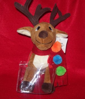 Stuffed Animal, Plush Toy,Christmas Plush Toy, Reindeer  with gift, phone card holder