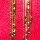 """Fashion, Costume Jewelry, a pair of Gold 4"""" dangling earrings"""