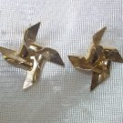 1 pr of  gold windmill Pierced Earrings,