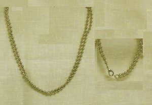 """1 set of double stranded silver beaded 16"""" necklace and 7.5 """" bracelet."""