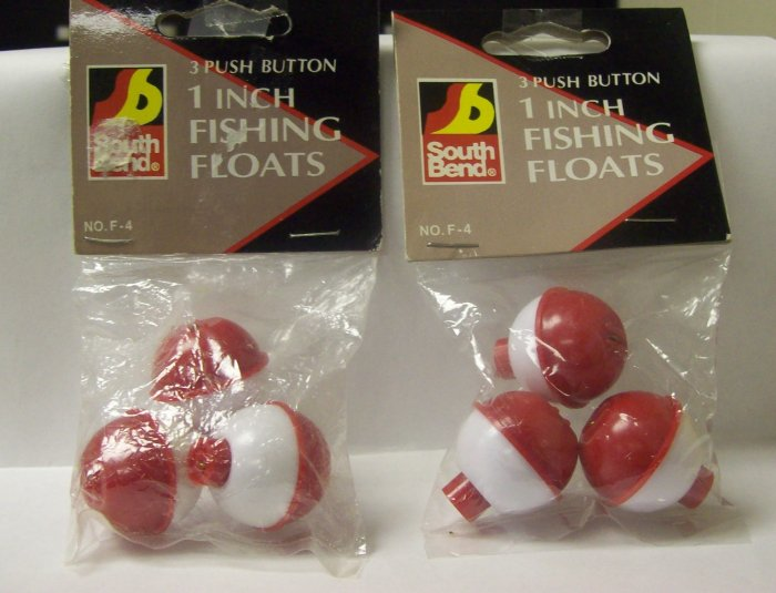 """Fishing Tackle, Southbend 1"""" push button fishing floats"""