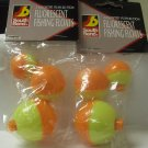 Fishing Tackle,  Southbend  Fluorescent Fishing Floats, Assorted Sizes