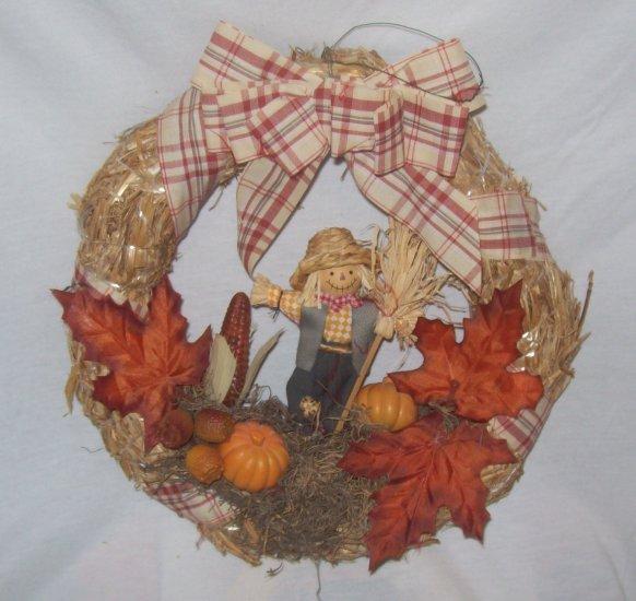 Halloween  Decorations,  Door  Wreath with  scarecrow