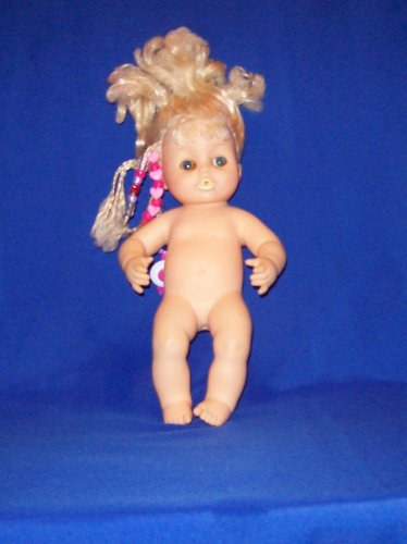 Horsman Baby girl doll, 1977, vinyl head body, blue eyes