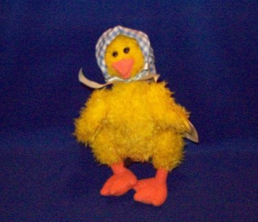 Stuffed Animal, Plush Toy, TY Collectible Bean Bag Duck named Bonnie -1993