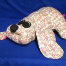 Stuffed Animal, Plush Toy, homemade pound puppy country flower print flannel