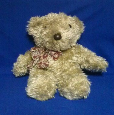 Stuffed Animals, Plush Toys, Bears -  large brown fuzzy bear with country bowtie, home decor