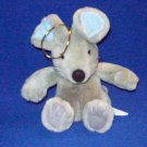 Stuffed Animal, Plush Toy, Grey Christmas Mouse by Snowden and Company