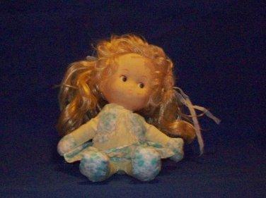 Girl  doll, white skin, vinyl head, soft cloth body