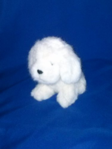 Stuffed Animal, Plush Toy, white fluffy dog by Russ Berrie