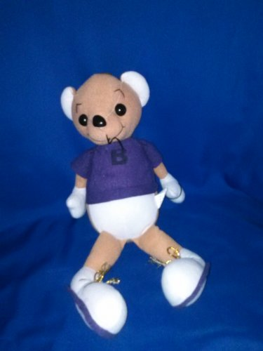 Stuffed Animal, Plush Toy, large brown mouse with purple shirt and gym shoes