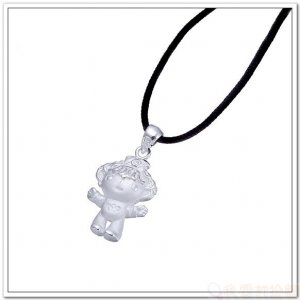 925 Sterling Silver Pendant/Charms 2008 Olympic Mascot Fuwa : BeiBei