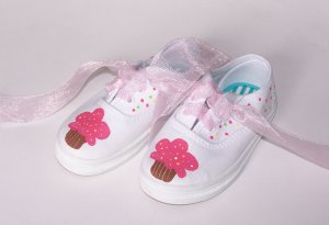 Gymboree Custom Shoes M2M Cupcake Cutie