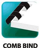 "1/4"" Black Plastic Comb binding Supply"