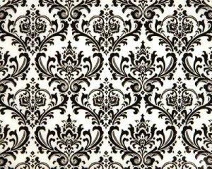 Damask Hanky Mens Pocket Square- Black White Madison Other prints avail.