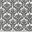 "Damask Table Square  Madison  for centerpiece 18""x 18"" small runner black white & Other Colors"