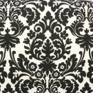 Damask Aisle Runner Black Cream/ Ivory/ Natural/ Off white Waverly Essence Onyx 25 ft