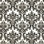 Mens Damask Black and White Tie Necktie and Pocket Square Set- Madison Damask Print