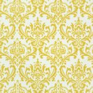 Damask hanky men's pocket square- Sun yellow on white Madison