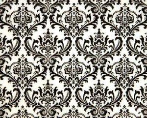 Damask Hanky Pocket Square  Tuxedo Madison Black White