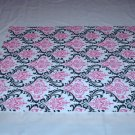 Damask Wedding Madison Table Square Black White Fuchsia