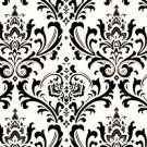 Damask Table Square Black White Bridal Traditions  24""