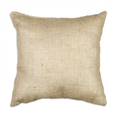 "Burlap pillow cover 16x16"" square natural color rustic charm"