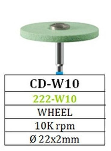 Diamond Green Stone Wheel CD-W10 Besqual for Zirconia and Porcelain ( 5 packs )