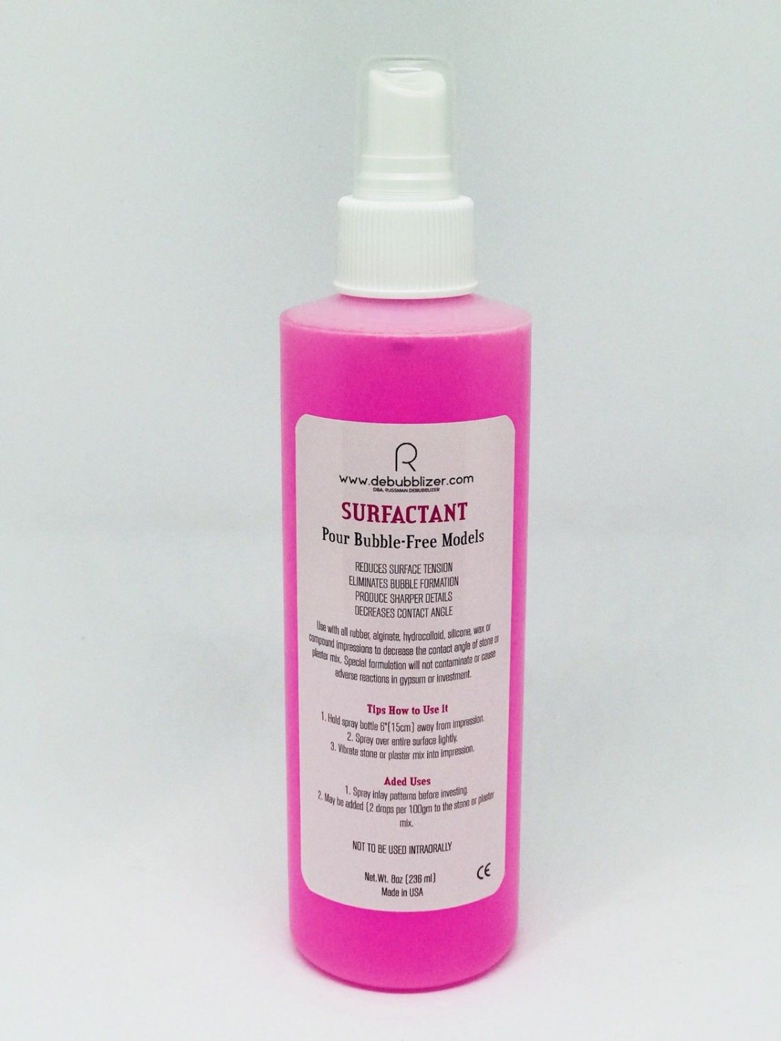 DeBubblizer-Surfactant, 8oz(236ml) spray Bottle Made in USA