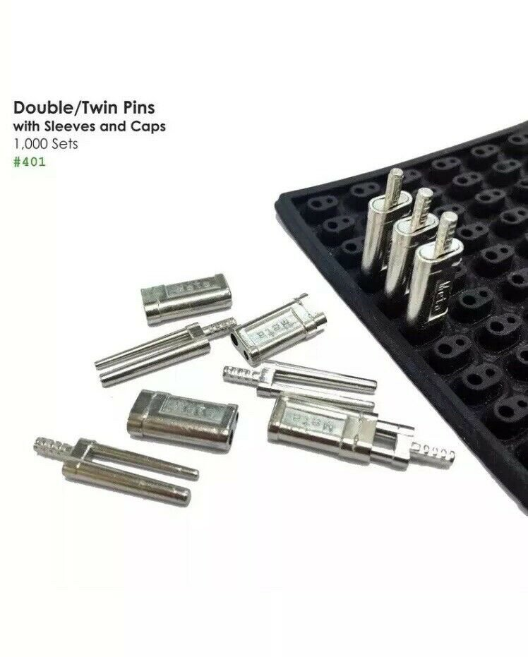 Twin / Double Pin with Metal Sleeves and Rubber Caps - 1000pcs