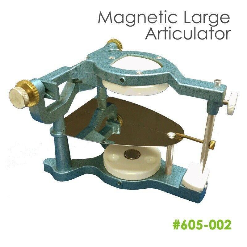 Large Magnetic Articulator Dentist w/ Occlusal Plate+Pin+Lock Screw